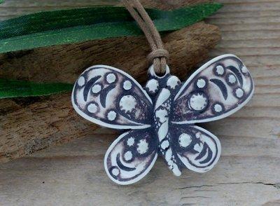 veter hanger vlinder ivoor-kleur