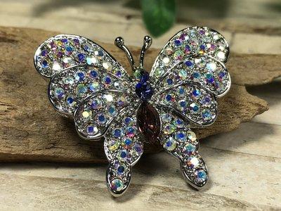 broche vlinder 'rainbow'