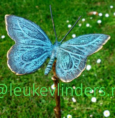 tuinprikker vlinder brons 10,7cm x 6,7cm