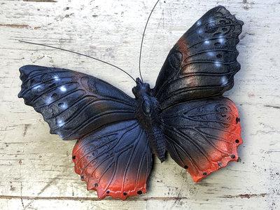 magneet vlinder atalanta 12x8cm