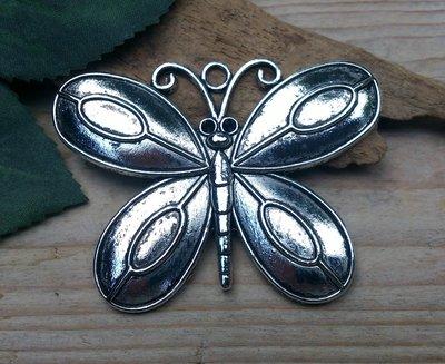 hanger vlinder zilverkleur