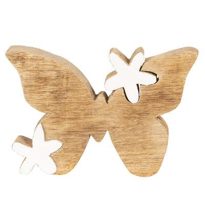 houten vlinder decoratie - medium 18x13cm