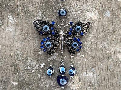 hangdecoratie vlinder met blauwe oog (Nazar)