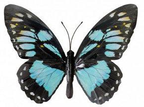 wanddecoratie vlinder metaal 35x25cm