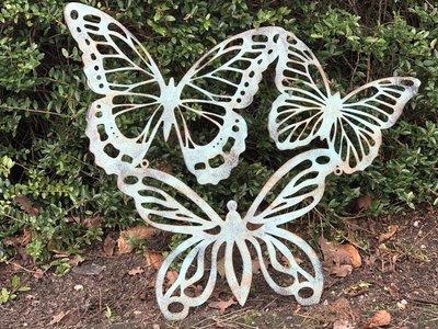 wanddecoratie vlinders metaal