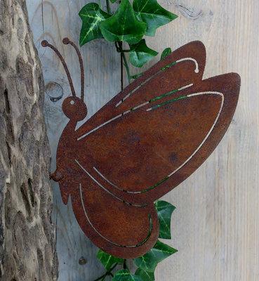vlinder metaal met schroef kies uit 2 formaten v.a.