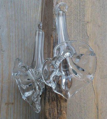 hangdecoratie bloem glas