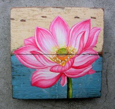 schilderijtje sloophout bloem sch1-a36