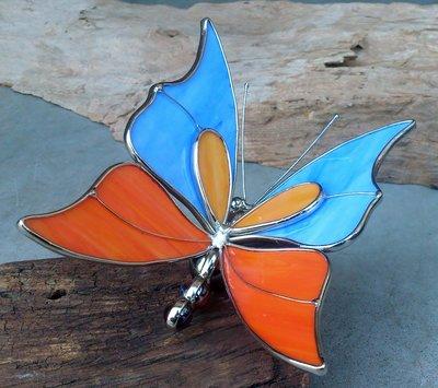 tuinprikker vlinder glas-metaal