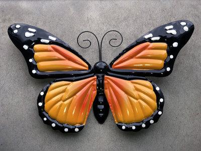 wanddeco bewegende vlinder 38x22cm