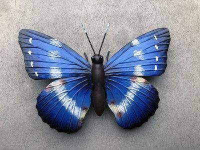 wanddecoratie 3D vlinder metaal 26x18 cm