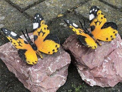 vlindertje brons op steen