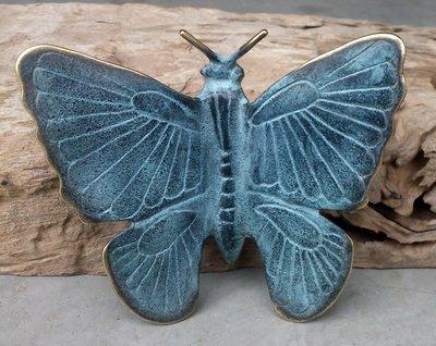 tuinprikker vlinder brons M 16 x 15 cm