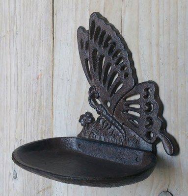 vogelvoerbakje vlinder gietijzer