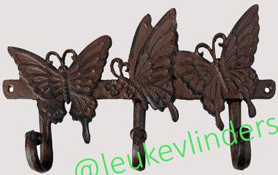 haken vlinders gietijzer