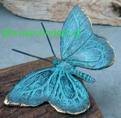 tuinprikker vlinder brons S 11 x 6 cm