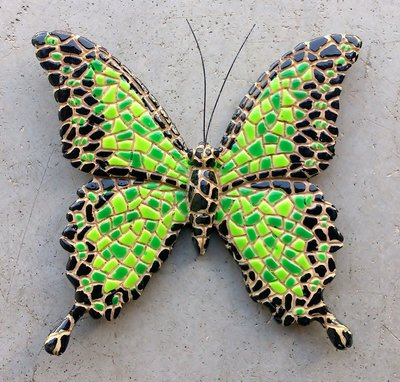 magneet vlinder mozaïek 8x8cm