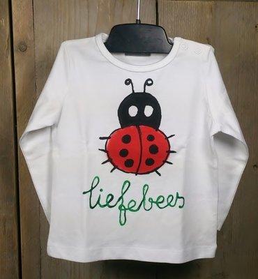 origineel baby shirt liefebees maat 68 + 86