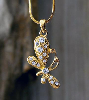 ketting vlinder hanger goudkleur