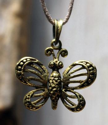 hanger vlindertje brons