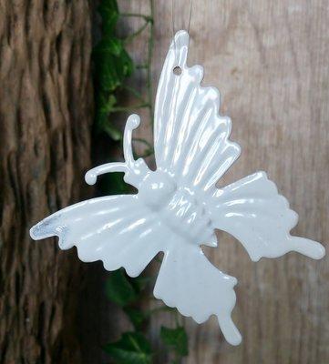hangdecoratie vlindertjes wit per 6 stuks