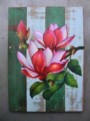 schilderij sloophout bloem 40x55cm