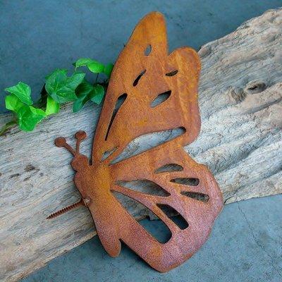 vlinder metaal met schroef