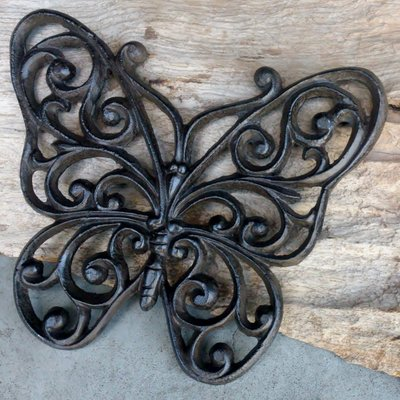 vlinder gietijzer 21x18cm