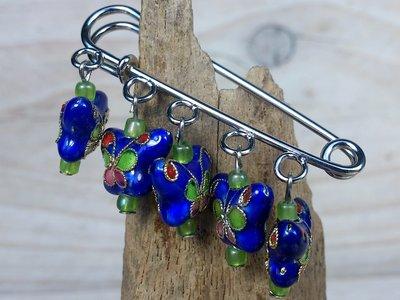 sierspeld vlindertjes donkerblauw