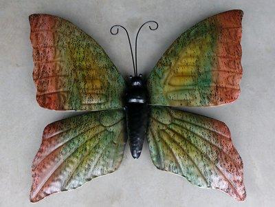 wanddeco vlinder metaal 'Autumn' 60 cm