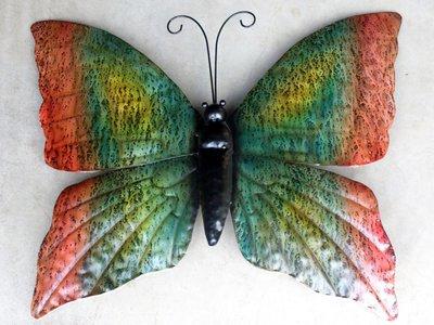 wanddeco vlinder metaal 'herfst' 60 cm