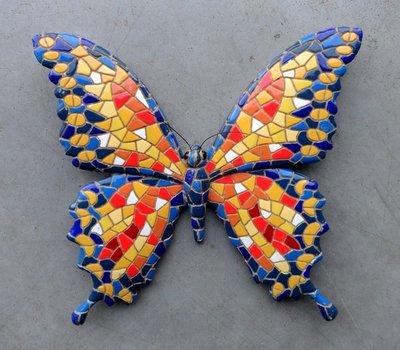 magneet vlinder mozaiek