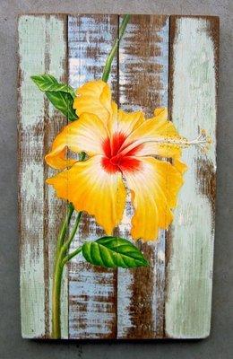 schilderij sloophout bloem sch3-C02