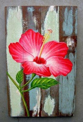 schilderij sloophout bloem sch3-C10