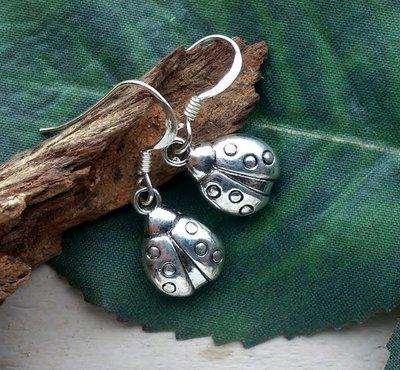 oorbellen lievebees zilverkleur
