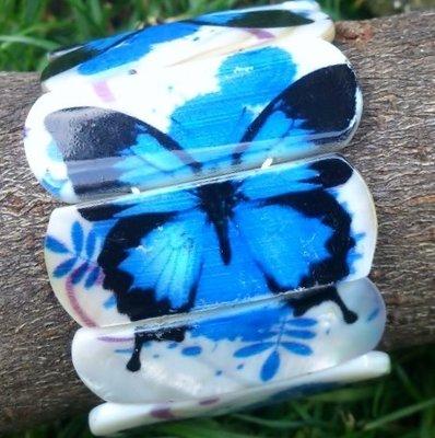 armband vlinder schelp