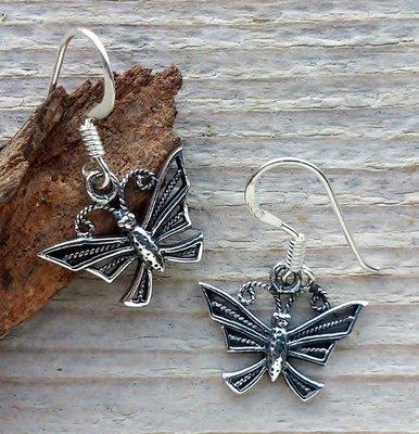 oorbellen vlinders zilver