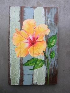 hibiscus schilderij