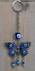 sleutelhanger vlinder met blauwe oog (Nazar)