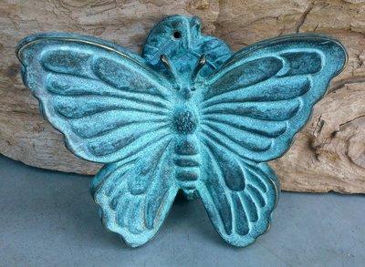 deurklopper vlinder brons 16 x 13 cm