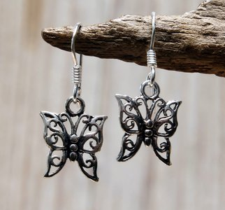 oorbellen vlinder zilver