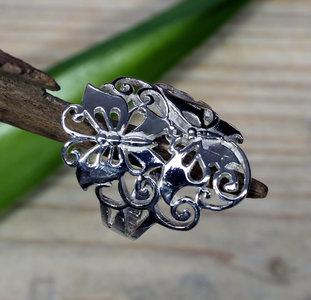 zilveren vlinder ring (maat 16¼ - 17¼ - 18 - 18¾) v.a.
