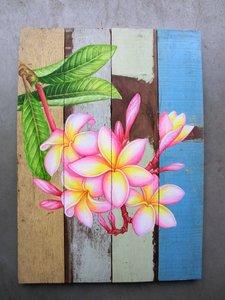 sloophouten bloemen schilderij