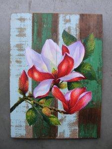 bloemenschilderij sloophput
