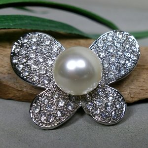 broche vlinder glitter-parel 506