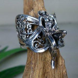 ring vlinder elfje zilver (maat 16¼ - 17 - 17¾)