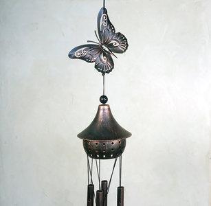 windgong met vlinder bruin