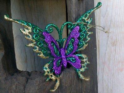 hangdecoratie vlinder 'peacock'