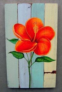 schilderij bloem hibiscus