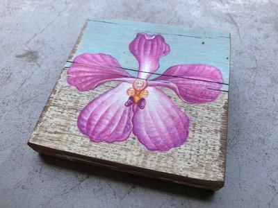 orchidee op sloophout